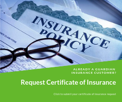 image to request certificate of insurance