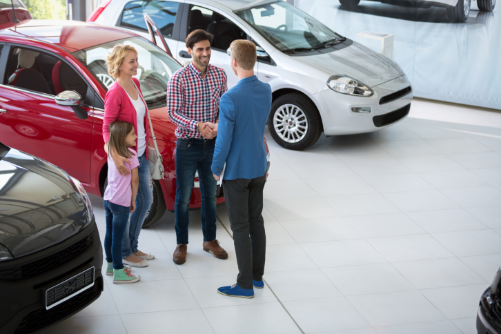 Family in Dealership