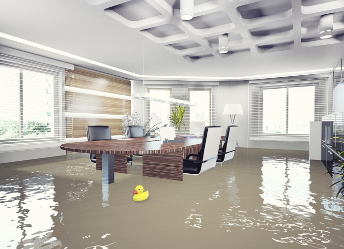 Flooded Office Interior