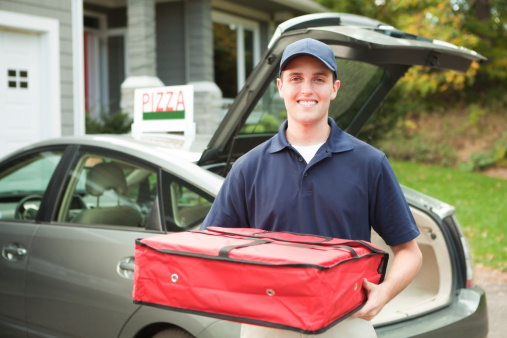 image of pizza delivery driver